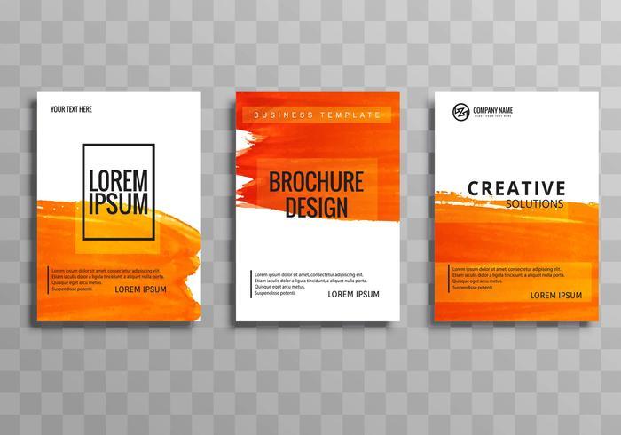 Modèle de brochure brochure abstrait aquarelle orange