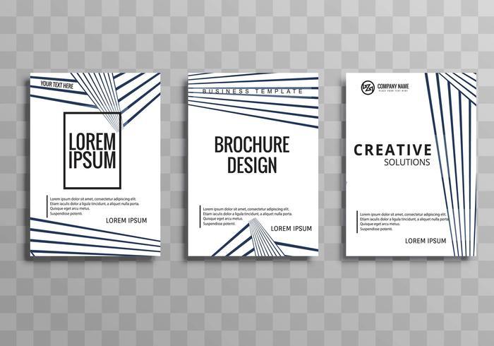 Negocio moderno folleto plantilla geométrica diseño