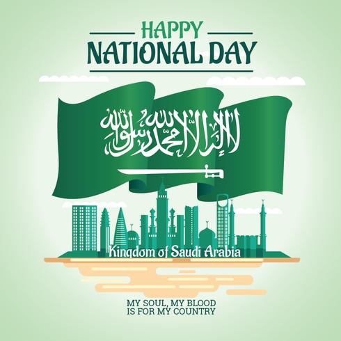 Illustration of Saudi Arabia National Day 23 rd September