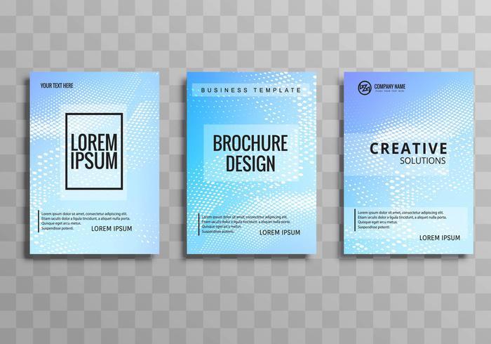 Abstract buisness brochure template set design