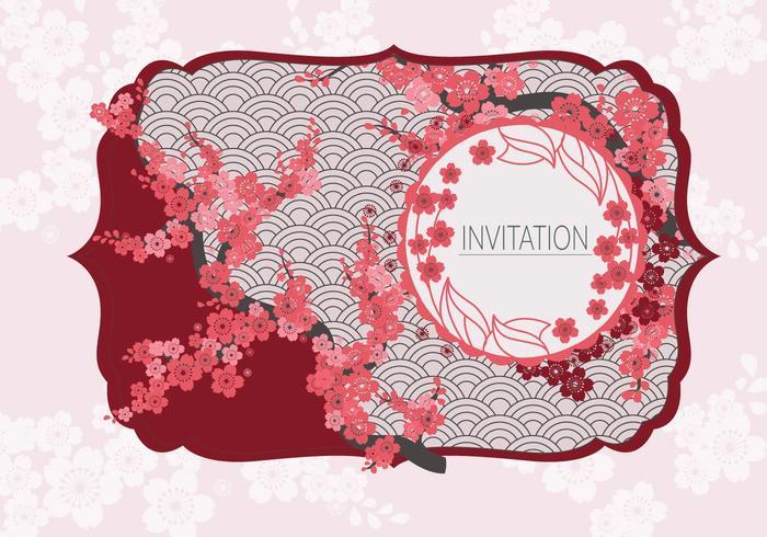 Vector de invitación de estilo japonés