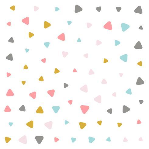 diseño de patrón de triángulo pastel colorido