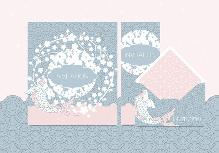 Japanese Style Invitation Vol 2 Vector