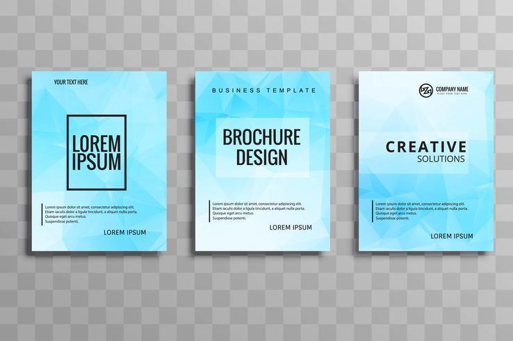 Modernes blaues Geschäftsbroschürenschablonen-Vektordesign