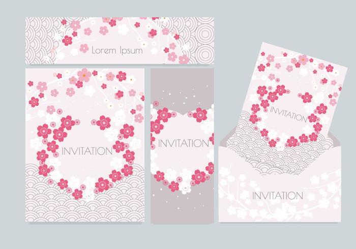 Vector de invitación de estilo japonés Vol 3