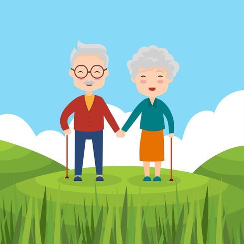 Vector de abuelos