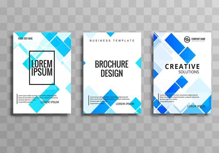 Modello di brochure moderna business set