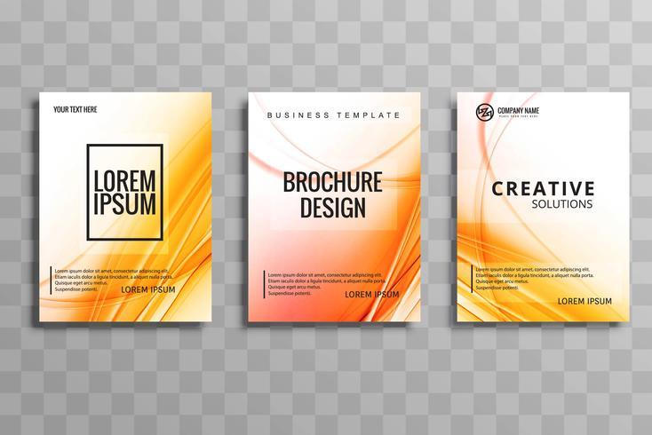 Diseño de conjunto de plantillas de colorido brochuse hermosa empresa