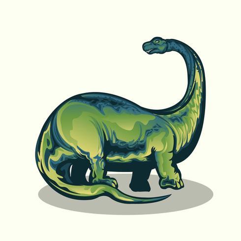 Realistic Brontasaurus vector