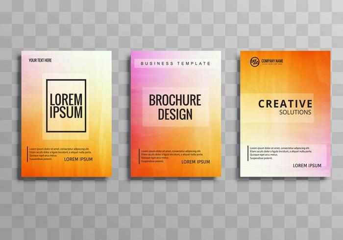 Modern business brochure set colorful template