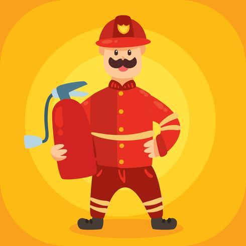 brandweerman karakter vector