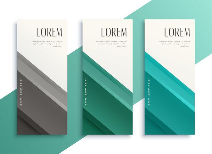 conjunto de banners verticales estilo geométrico empresarial