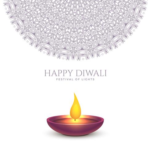 joyeux diwali beau design de fond