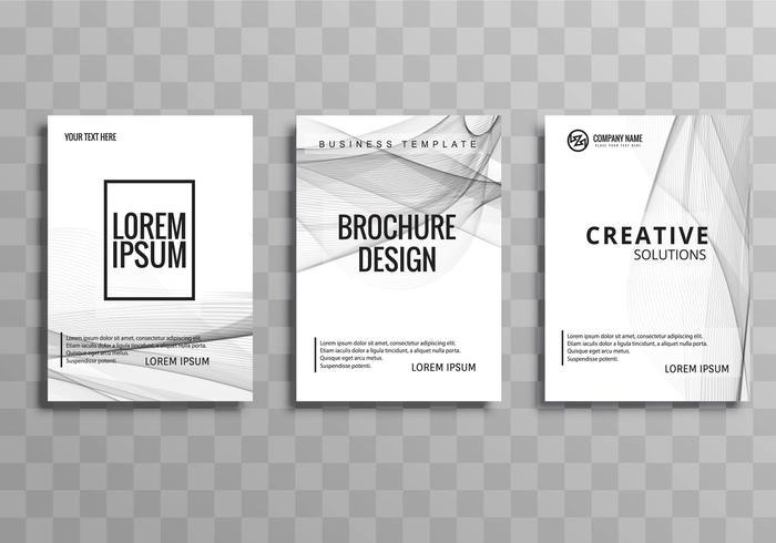 Conjunto de plantilla de folleto de negocios elegante abstracto