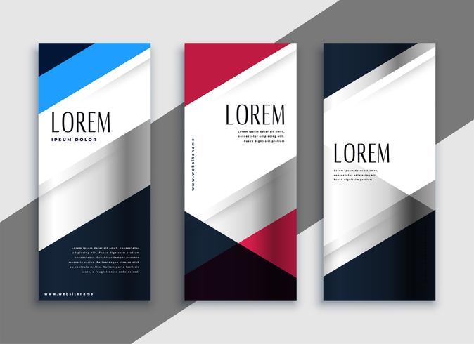 diseño de banners verticales negocios geométricos