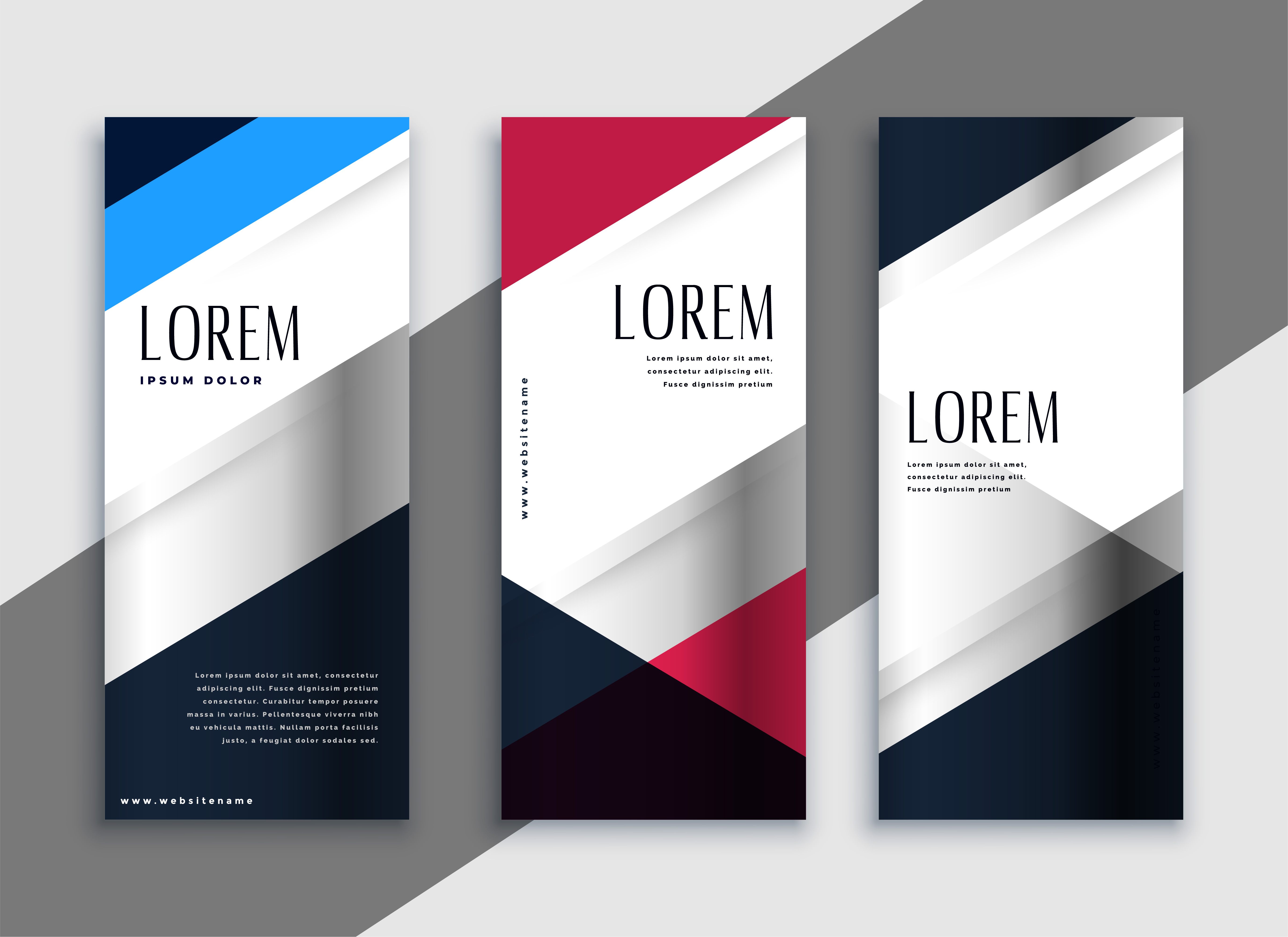 Geometric Business Vertical Banners Design Download Free