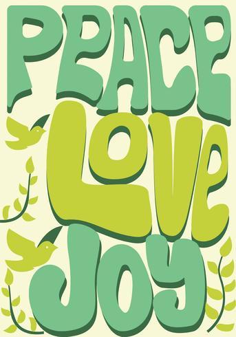 Paz, amor y alegría Vector Design