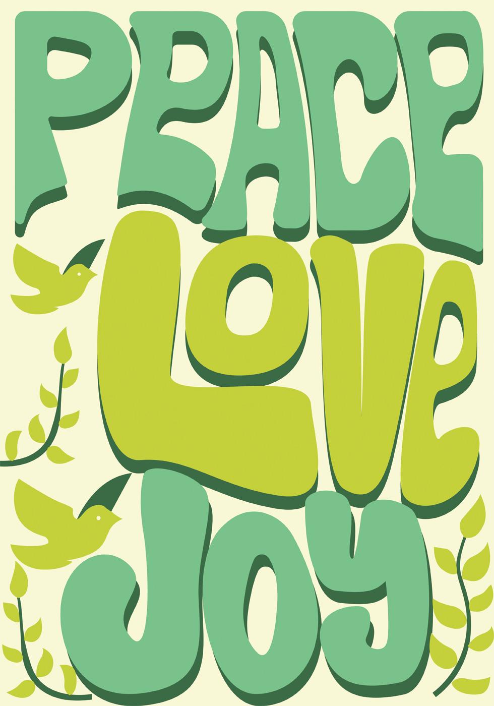 peace  love  and joy vector design