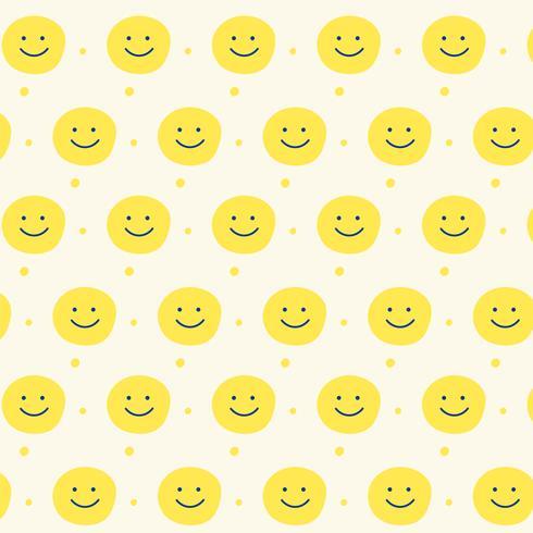 Fondo de diseño de patrón de sonrisa amarilla