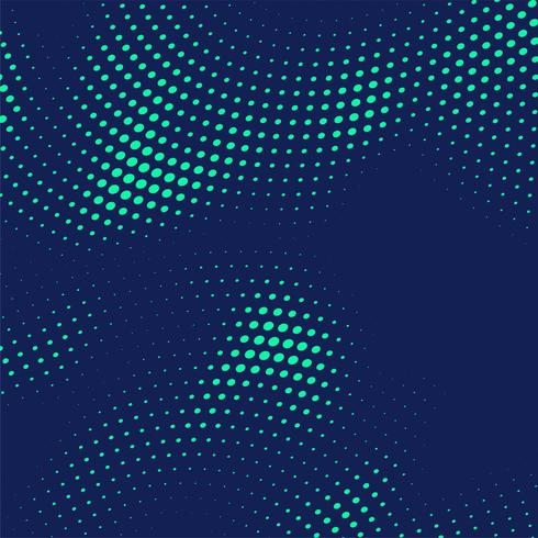 Fondo de puntos de semitono azul Resumen