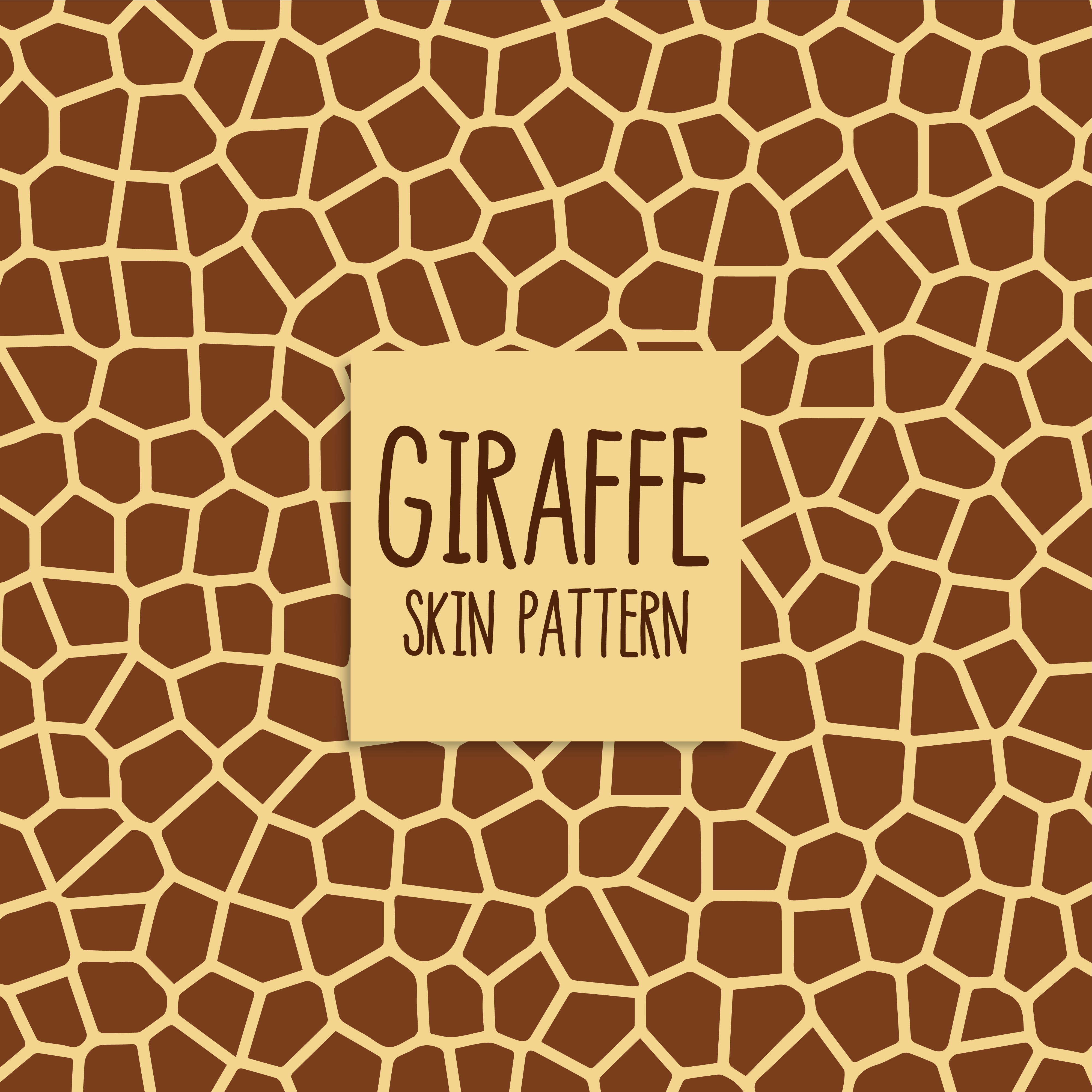 Giraffe Skin Pattern In Brown Color Download Free Vector