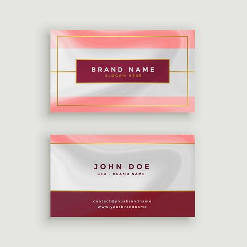 modern business card in marble style texture