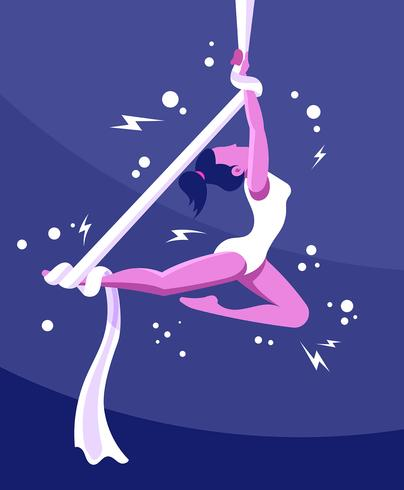 Trapeze Artist Illustration vector