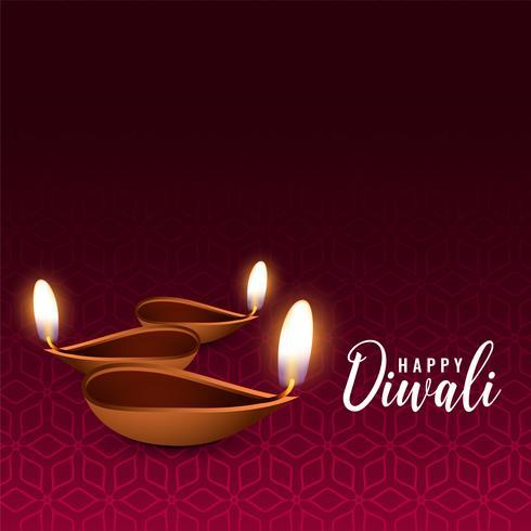 brilhante diwali festival diya fundo
