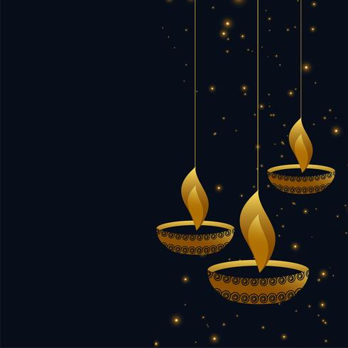 hängande diwali diya på mörk bakgrund