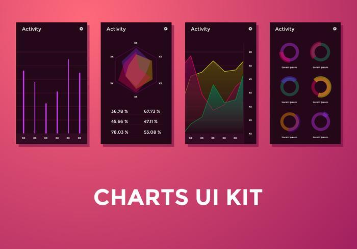 Diagrama de actividad Gráficos Ui Kit Vector