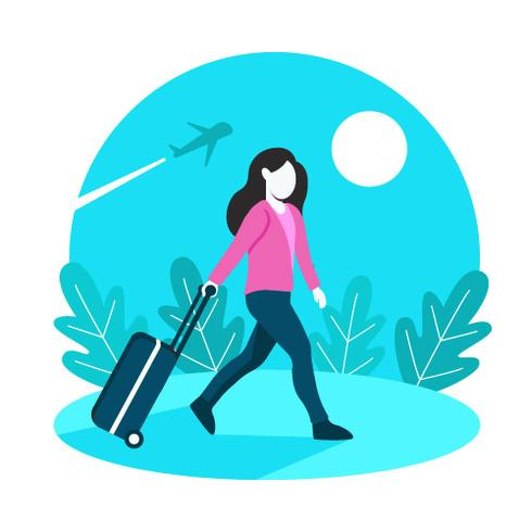 Solo Traveller Femmes Avec Fond De Valise