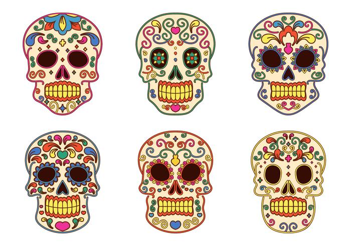 Collezione Day of The Dead Vector