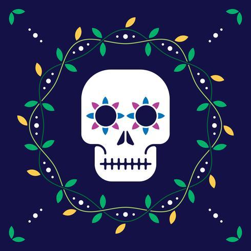 Tag der Toten für Postkarte oder Feier Design Illustration