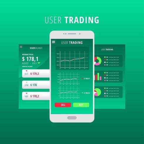 Gráficos UI Kit Verde Vetor
