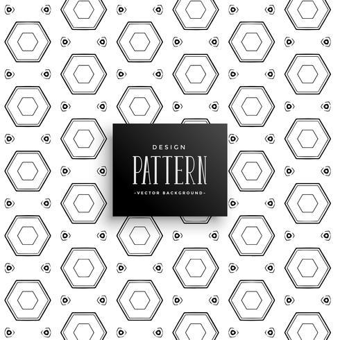 abstract geometric hexagon pattern decoration