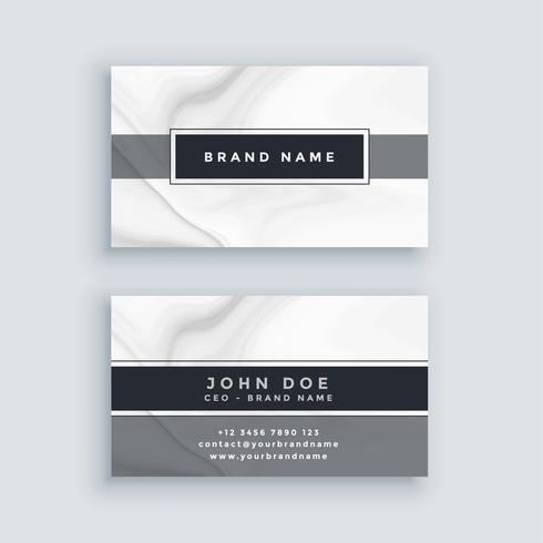 elegant gray business card template with marble backdrop
