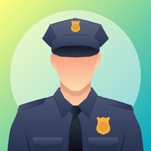 Illustrazione di avatar ufficiale di polizia