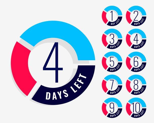 Nedräkningstimern visar antalet dagar kvar