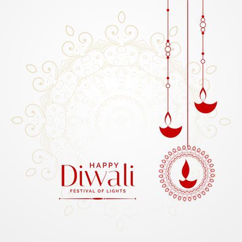 colgando diwali diya fondo festival encantador