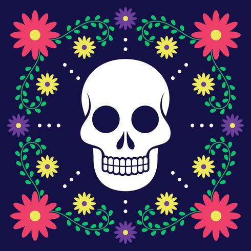 Dia do cartão morto com decoração floral