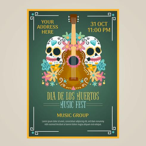 Watercolor Flyer Day Of Dead