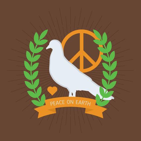 Belos vetores de paz e amor