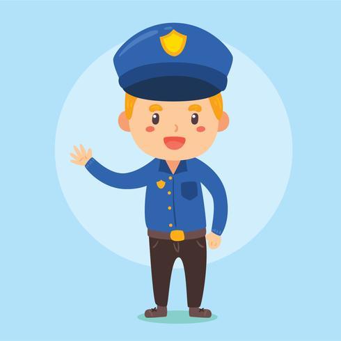 Buon vettore ufficiale di polizia