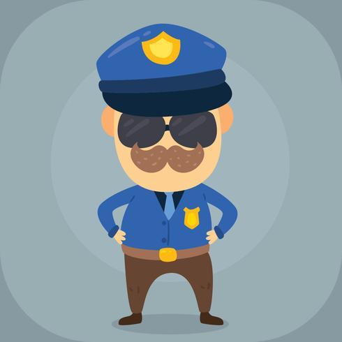 Vettore dell'ufficiale di polizia del fumetto