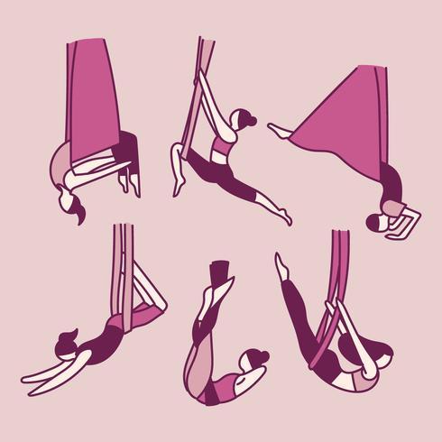 Persone che fanno acrobazie con gli elastici