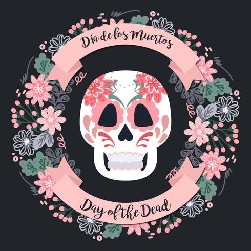 Vector Day of The Dead Wreath