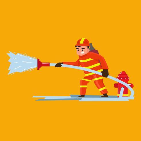 Brandweerman vectorillustratie