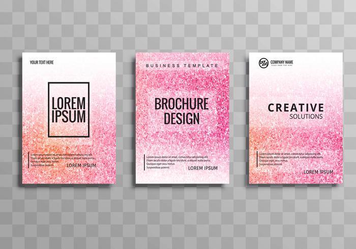Moderne stijlvolle zakelijke brochure kleurrijke sjabloon