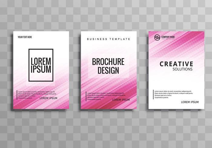 Conjunto de modelo de folheto empresarial moderno