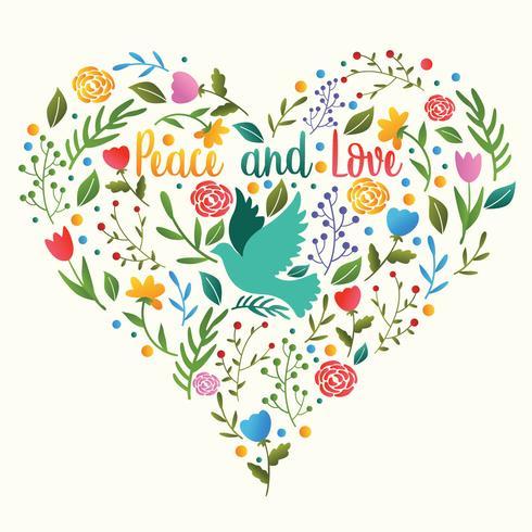 Frieden und Liebe Vektor Design